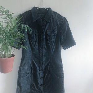 🌻 Esprit Denim Midi Dress • French • Quality